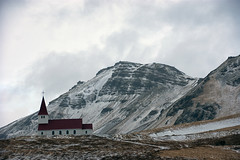 Catering for many Icelandic needs (lunaryuna) Tags: iceland southiceland vikimyrdal reyniskirkjachurch church mountain landscape shelter travel journey lunaryuna