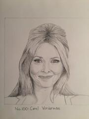 No.100:Carol Vorderman (Dame Warden) Tags: portrait drawing carol vorderman