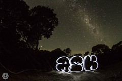 Milky Flop (MISHKA Vision - Light Graffer) Tags: australie australia lightpainting lightgraff longexposure expositionlongue nightphotography roadtrip