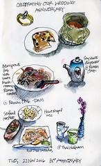Food Sketches, 22 Nov 2016 (calliartist) Tags: foodart sketches urbansketches penandink watercolorsketch