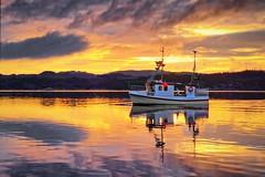 Frdesfjorden, Norway (Vest der ute) Tags: g7x norway rogaland ryksund seascape sea boat clouds earlymorning reflections mirror serene fav25 fav200