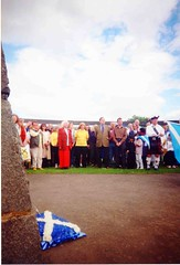 Winnie Ewing and Alex Salmond at Bannockburn rally (Scottish Political Archive) Tags: scottishnationalparty snp scottish national party bannockburn rally ewing salmond