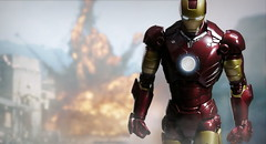 Walking away from explosion (kevchan1103) Tags: iron man ironman mark mk iii 3 s h shf bandai marvel tony stark toys action figures shfiguarts figuarts