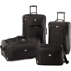 "American Tourister Fieldbrook II Four-Piece Luggage Set (25"", 21"") Choose Color (wupplestravel) Tags: american choose color fieldbrook fourpiece luggage tourister"