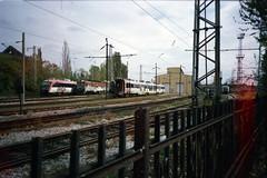 ricoh r1s / burn (Shtani v Getri) Tags: ricoh r1 r1s burn agfa 100 iso lifestyle train fire sofia spot station railway atmosphere dead trains