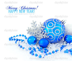 Blue and silver christmas decoration baubles on white with space for text (michael.lopes27) Tags: backdrop background ball bauble blue bright card celebrate celebration christmas december decor decorate decoration decorative detail festive fun gift glass greeting holiday isolated joy light merry new object ornament ornate round season seasonal shape shine shiny snow space text wallpaper white winter xmas year snowflake silver