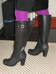 Going out for shopping (jazka74) Tags: wellies rubber boots hunter high heel fulbrooke use fun