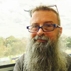 On a Train (Upfield Line) (Rantz) Tags: rantz mobilography 365 roger doesanyonereadtagsanymore mobilographypad2016 psad2016 victoria melbourne bluetiful selfportrait blue ofme self selfie