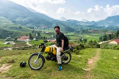(travel around the world for 2 years) Tags: vietnam travel mortorcycle mountains colorful view field sun sony a7 2870mm selfie landscape nature outdoors