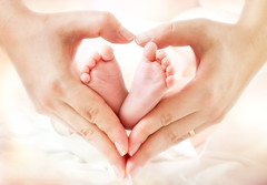 baby feet in mother hands - hearth shape. (Jessica_PFP) Tags: baby newborn feet mother hands heart motherhood care mom tiny life hold love family child toes kid born new skin palm human small tender parent finger safety infant little protect comfort innocent maternity shape childhood tenderness adoption concept babysfeet littlefeet tinyfeet soft softness