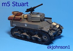 M5 Stuart (ekjohnson1) Tags: bricklink fair brick bfva america france two war world wwii stuart m5 moc tank lego