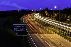 Night Lights (Steve Millward) Tags: nikon nikkor d750 2470 fx fullframe stevemillward perspective interesting colour light mood moment night bluehour longexposure derby winter cold cars lighttrails motorway road a50 traffic