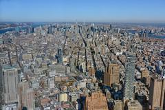 View North From One World Observatory, New York, New York (J. A. Robertson) Tags: 1worldtradecenter midtownmanhattan hudsonriver eastriver manhattan cityscape