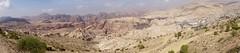 Wadi Musa links, Petra in het midden