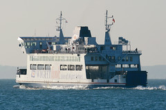 St Cecilia, Southsea, January 3rd 2009 (Southsea_Matt) Tags: stcecilia wightlink isleofwightferry roro carferry thesolent southsea portsmouth hampshire canon 30d 100400mm january 2009 winter passengertravel publictransport marine ship boat ferry vessel