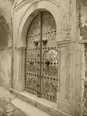 Ancient door, Tunis.