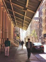 Soho 2016   Mercer meander (Ryan Vaarsi) Tags: soho streetphotography mercer mextures overhang iphonography manhattan newyorkcity