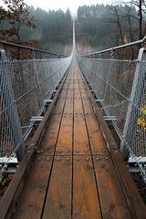 Foggy Bridge (Fabian F_) Tags: geierlay germany deutschland bridge brcke hngeseilbrcke morning fog nebel mosel