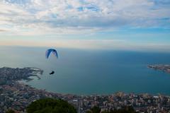 DSC_3051 (Paul Saad) Tags: beach sea clouds sky jounieh lebanon nikon parachute paragliding flying
