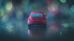 Baby... it`s raining outside (RoCafe) Tags: macromonday beatlesbeetles mm macro vw car rain bokeh vintagelens pentacon50mmf18 soft softfocus softlight nikond600