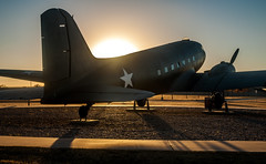 On Guard (braniffelectra) Tags: texas westtexas c47 dc3 sunset lubbock silentwingsmuseum