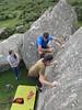 pulling on pebbles (squeezemonkey) Tags: bonehillrocks devon dartmoor boulder climbing bouldermat balancing gripping granite outdoors