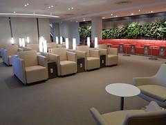 Mood Lighting (mikecogh) Tags: sydney airport lounge empty tubular lights armchairs comfortable skyteamlounge