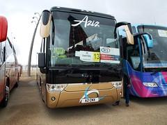 Aziz Coach Services A2CNX (JBF Photography) Tags: aziz a2cnx blackpool x423wvo scania k124ib4 vanhool alizee t9