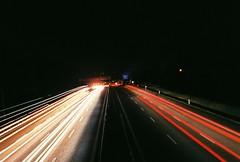 1st time (Adams Cheese) Tags: longtimeexposure cars light autobahn canon analog superia
