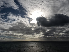 Sun and clouds - how Melbourne is that! (bdnils) Tags: sky morningtonpeninsula portphillipbay melbourne light sun sea clouds