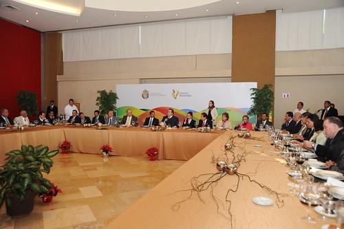 El gobernador Javier Duarte de Ochoa asistió a Comida con los Magistrados Integrantes del Poder Judicial del Estado.