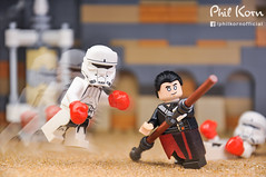 """""""The Force is strong,"""" Chirrut Îmwe once said (Phil Korn) Tags: lego lego365 starwars legostarwars minifigues minifig explore imperial hovertank pilot chirrut îmwe jedha sand box force afol philkorn21 photography nikon photoshop rogue one movie toys winter weekend series16 75152"""
