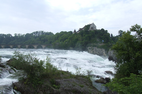 Rhine Falls and Laufen Castle in the background, 19.05.2012.