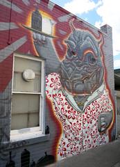 Fitzroy Rhino Mural by Putos (wiredforlego) Tags: streetart graffiti mural au fitzroy australia melbourne mel urbanart putos