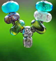 Jizo and new beads are here. (Athanassia) Tags: glass armband charm bracelet bead glas kraal zilver trollbeads bedel