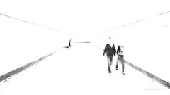 Tunnelwandeling (Harry -[ The Travel ]- Marmot) Tags: city people urban blackandwhite bw musician man monochrome stairs germany point deutschland movement couple shadows zwartwit tunnel flute player leipzig stedelijk human mens ghosts highkey lonely vanishing whistle stad duitsland blower mensen eenzaam trappen monochroom schwarzweis verdwijnpunt geesten fluitist olympusomdem5 lumixgvario1235f28 tunnelwandeling ©allrightsreservedcontactmebyflickrmail tunnelwalkmuzikant