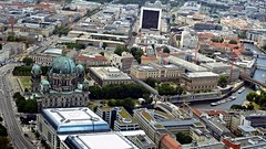 Museum Island area from Berlin TV Tower (ali eminov) Tags: berlin architecture buildings germany cityscapes bridges churches cathedrals rivers museums scenicviews museumisland berlincathedral spreeriver viewsfromberlintvtower