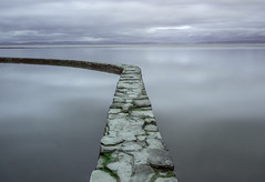 Keep Left (Robgreen13) Tags: uk longexposure shadow sea sky bw seascape reflection pool clouds swimming canon bristol eos mono rocks day alone waterfront view cloudy calm coastal minimalism channel clevedon seapool 650d iplymouth yahoo:yourpictures=coastal