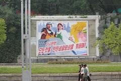 Propaganda on Sungri Street Pyongyang North Korea (Ray Cunningham) Tags: street mural propaganda north korea nord northkorea pyongyang corea dprk coreadelnorte  sungri