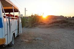 Side - old bus with sunset (and ruins) (Romeodesign) Tags: old sunset holiday bus beach turkey ruins mediterranean riviera side urlaub trkiye trkei peninsula turkish 550d pamphylian