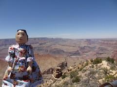 Hitty Madge at The Grand Canyon (Balancing Kiwi) Tags: arizona grandcanyon sedona woodendoll montezumaswell hittymadge