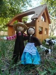 Miniature farmer doll Wildflower Innocence 5 (wildflowertoys) Tags: woodentoys dollhousedolls toybarn bendydoll naturaltoys waldorftoys elvesandangels dollhousefamily toystable wildflowerinnocence