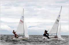 trapeze 420's 2 (tesseract33) Tags: world ocean light sea summer colour art boats nikon sailing games 420 nikondigital dinghysailing nikond300 tesseract33 420sailing peterlangphotography racingbc gamesbc