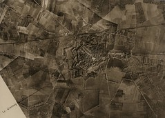 Aerial photograph of Le Quesnoy taken in 1918 (Archives New Zealand) Tags: newzealand france worldwari german worldwarone aerialphoto westernfront 1918 lequesnoy