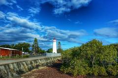 Old Cleveland Lighthouse (Aussie~mobs) Tags: cleveland lighthouse moretonbay park hexagonal wooden historical cru årgang jahrgang vendimia aussiemobs