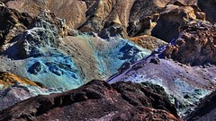 Color-palette of nature (flowerikka) Tags: california pink blue usa brown colors yellow germany us rocks magenta violet read minerals deathvalley volcanic blackmountains palette hydrothermal artistsdrive