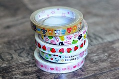 Kawaii Deco Tapes - Kamio, Mind Wave, Q-Lia, Crux (MoonBaby2202) Tags: cute japan pretty colours sanrio collection tape kawaii colourful collectible deco stationery crux washi qlia sanx kamio mindwave
