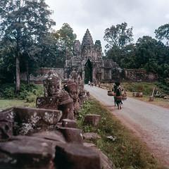 Angkor Thom, Cambodia - 1958 (BU ICEAACH) Tags: 120 6x6 film mediumformat square cambodia hasselblad squareformat angkor angkorthom hasselblad500c epsonperfectionv700photo hasselblad500series historiccambodia charlessamz