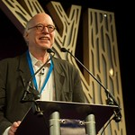 Richard Sennett on stage during the Principle of Religion event