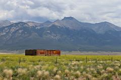 Blanca Peak - Costilla, Colorado (chief_huddleston) Tags: railroad reflection train colorado railway depot rockymountains alamosa freighttrain antonito drg funit drgw blancapeak fp10 sanluisriogrande slrg1100